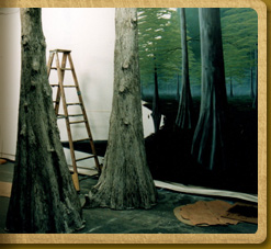 Cypress tree models and mural