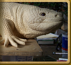 Gila Monster sculpture in-progress