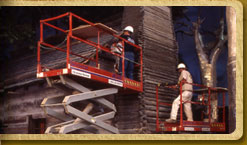 Abraham Lincoln log cabin installation