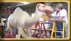 Sculpting a full grown dromedary camel model